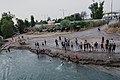 Boys playing and diving at the Old Bridge over the Tigris in Mosul in 2019 during the summertime 12.jpg