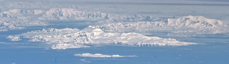 Brabant Island - Brabant Island seen from northeast, with Hoseason Island and Liège Island in the foreground, and Anvers Island (on the right) and Antarctic Peninsula in the background.