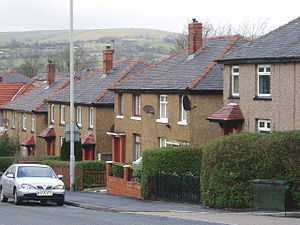Nelson, Lancashire - Council houses in Bradley ward