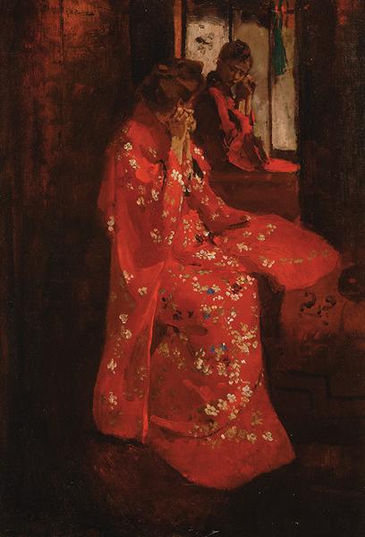 File:Breitner Meisje in rode kimono voor de spiegel.png