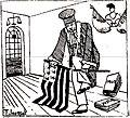 Breiz Atao - 24 février 1929 - caricature visant l'interdiction du drapeau Gwen ha Du.jpg