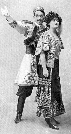 The Merry Widow - Donald Brian and Ethel Jackson in the original Broadway production (1907)