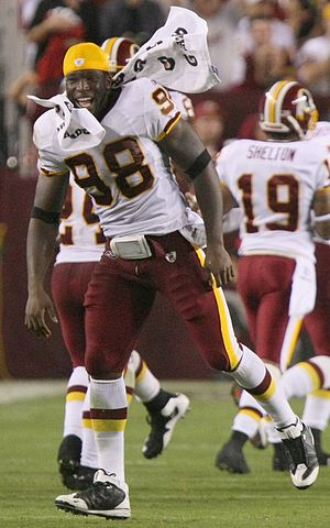 Brian Orakpo - Orakpo during a Redskins' preseason game in 2009.