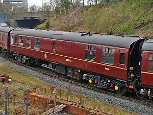 British Rail corporate liveries - British Railways Mark 1 coaches in early 1960s maroon livery