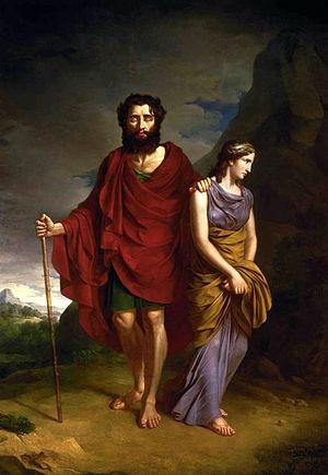 Œdipe (opera) - Oedipus and Antigone, by Antoni Brodowski (1828)
