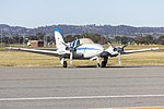 Broken Hill Aviation (VH-EZF) Beechcraft E55 Baron at Wagga Wagga Airport.jpg