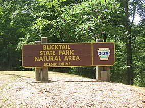 Bucktail State Park Natural Area Sign, Clinton County.jpg