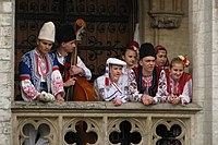 Bulgarian folk dancers and musicians in Brussels cropped.JPG