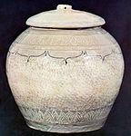 Buncheong Placenta Jar Stamped Chrysanthemum Designs.jpg