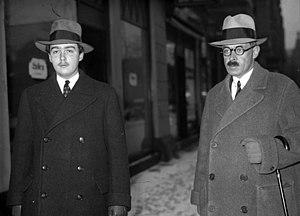 Otto von Habsburg - Otto von Habsburg (left) and Count von Degenfeld in 1933.