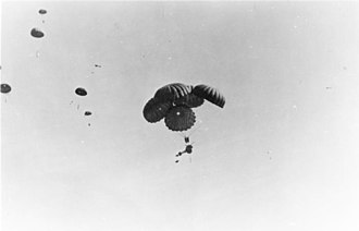 3.7 cm Pak 36 - Pak 36 being airdropped by parachute during the Battle of Crete.