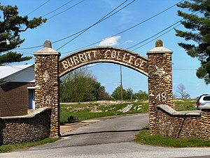 Burritt College - Burritt College entrance gate