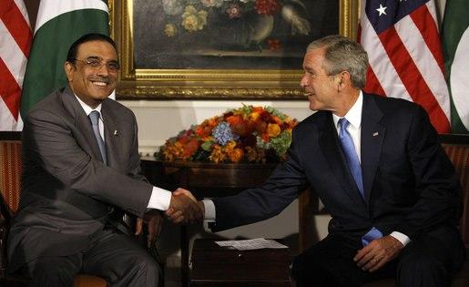 Bush and Zardari 2008-9-23