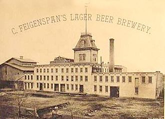 Alcohol laws of New Jersey - The C. Feigenspan Brewery in Newark, New Jersey, c.1890–1900.