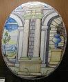 C.sf., pavia, sirio antonio africa (attr.), piastre ellittiche ad architettura, 1675-1710 circa 02.JPG