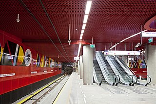Rondo Daszyńskiego metro station Warsaw metro station