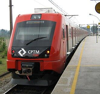 Itaquaquecetuba - Train at Itaquaquecetuba Train Station.