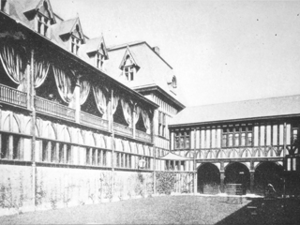 Belcourt of Newport - The courtyard before Alva Belmont initiated renovations that would radically reconfigure the courtyard and the interior of the home