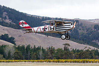 Pfalz D.III - Replica Pfalz D.III (ZK-FLZ) at the Classic Fighters 2015 airshow in Blenheim, New Zealand