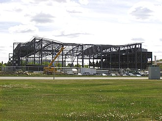 Canadian Light Source - The CLS building under construction in June 2000