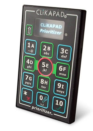 Audience response - RF keypad with display