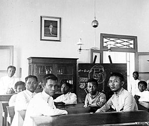 Indonesian National Awakening - Students of an Agricultural School in Tegalgondo, Central Java. ca. 1900-1940.
