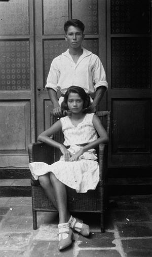 Indos in colonial history - Indo-European brother and sister, Dutch East Indies, 1931