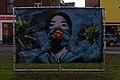 COVID-19 artwork on Square Anne Frank (Tournai, Belgium, DSC 0673).jpg