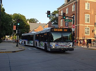 Champaign-Urbana Mass Transit District - Image: CUMTD 2001 New Flyer D60LF 0107