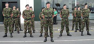 Army Cadet Force - Cadets during parade and church service in Saint Peter Port, Guernsey, 16 September 2012