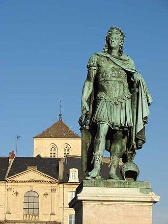 Louis Petitot - Louis XIV, bronze, place Royale, Caen, 1828