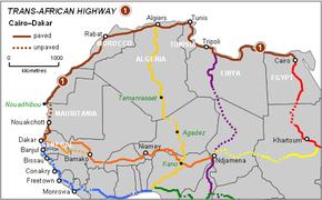 CairoDakar Highway Wikipedia - Where is cairo