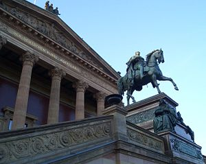 Alexander Calandrelli - Equestrian statue of Frederick William IV by Calandrelli (pediment of the Alte Nationalgalerie in Berlin