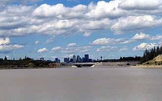 Glenmore Reservoir - Downtown Calgary seen from Glenmore Reservoir.