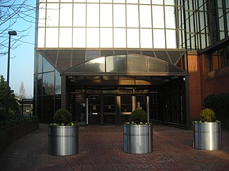 Cherry Orchard Road - Image: Canary Wharf style entrance in Croydon offices