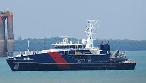 Australian Border Force - A Cape-class patrol boat of the Marine Unit (Coast Guard) in Darwin, Northern Territory