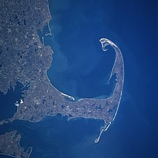 Cape Cod and Cape Cod Bay from space.