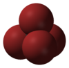 Spacefill model of tetrabromomethane