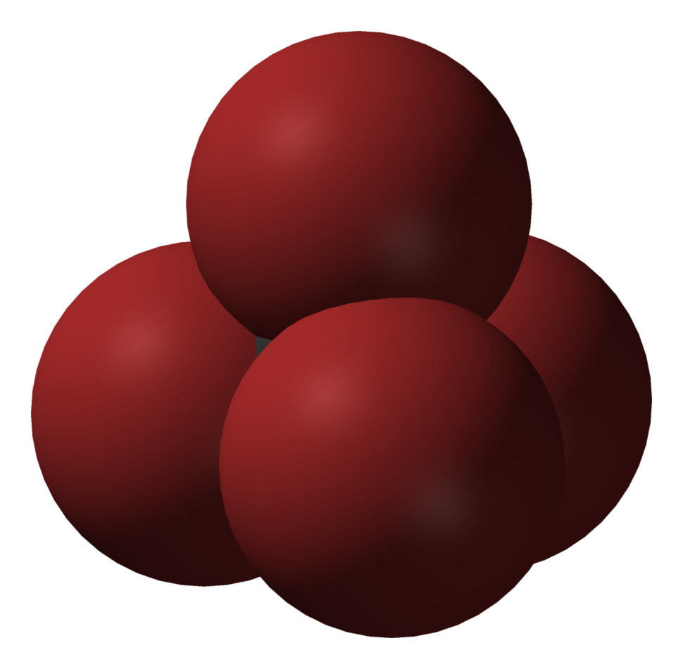 Spacefill model of tetrabromomethane