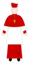 Cardinal - choir dress.svg