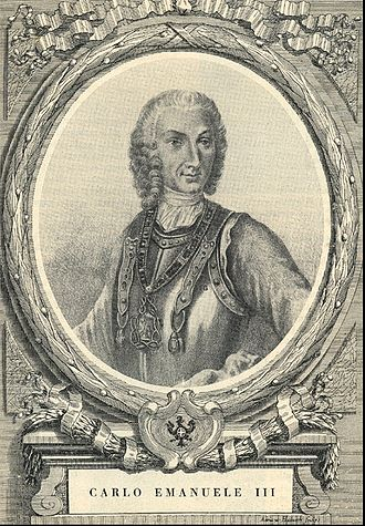 War of the Polish Succession - Charles Emmanuel III of Sardinia, 18th century engraving