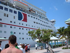 The Carnival Sensation docked at Freeport Harb...