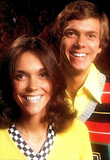 The Carpenters American vocal duo