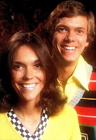 The Carpenters - Karen and Richard Carpenter in 1974