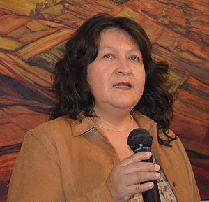 Angélica Carrasco - Angelica Carrasco at the Salón de la Plástica Mexicana