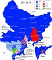 Carte étiquettes politiques - cantons Alpes-Maritimes - 2011-2014.png