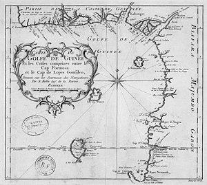 Gulf of Guinea - Image: Carte du golfe de Guinée 18e s