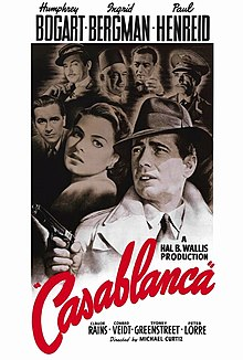 Original theatrical release poster, featuring the likeness of Humphrey Bogart in the foreground wielding an automatic pistol, with the likenesses of the half-dozen other main members of the cast in the background.