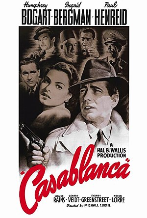 Bill Gold - Gold's US theatrical release poster for Casablanca (1942)