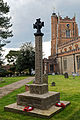 Castle Hedingham, St Nicholas' Church, Essex England, graveyard war memorial cross.jpg